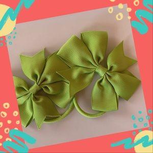 👶5/$25 Apple Green Elastic Hair Ties Ponytail